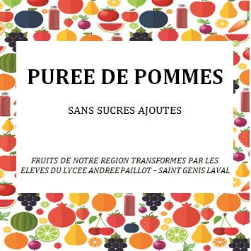 Transformation de purée de pommes sans sucres ajoutés